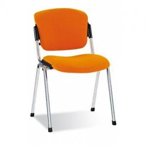"""Офисный стул для посетителей ЭРА - стул коллекции эргоника производства компании  """"Новый Стиль """" на хромированной раме."""